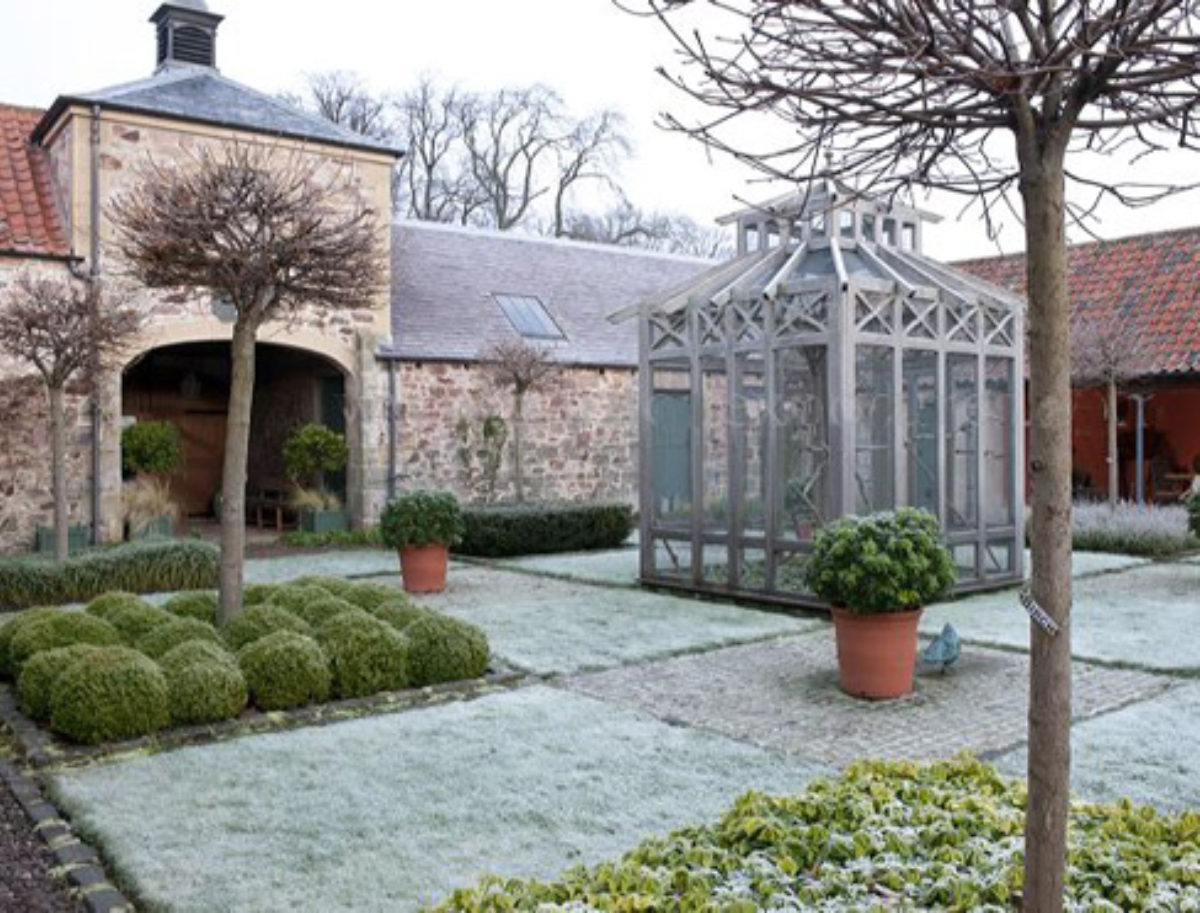 The Frosty Courtyard